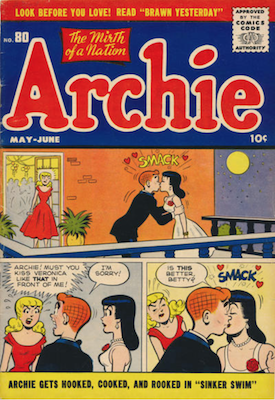 Archie Comics #80. Click for current values.