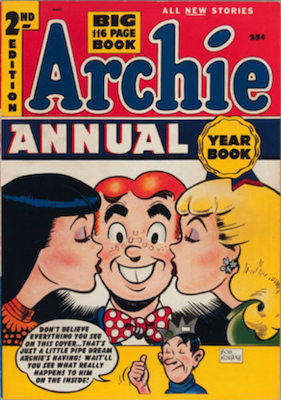 Archie Annual #2: rare in high grade. Click for values
