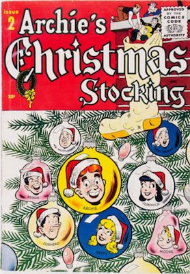 Archie Giant-Size Magazine #2: Archie's Christmas Stocking #2. Rare in high grade. Click for values