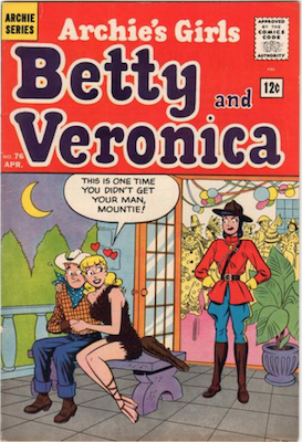 Archie's Girls Betty and Veronica #76. Click for current values.