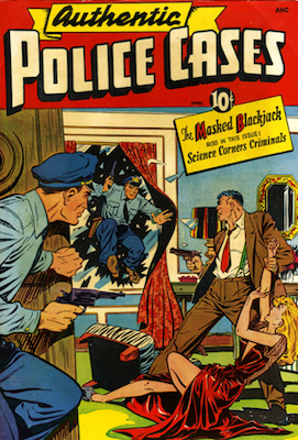 Authentic Police Cases #7. Matt Baker cover. Click for values