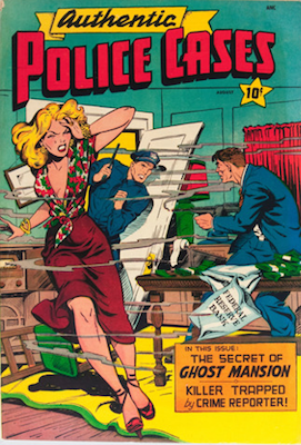 Authentic Police Cases #8. Matt Baker cover art. Click for values