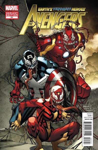 #84: Avengers 21 Barberi Venom Variant (2012). Click for values