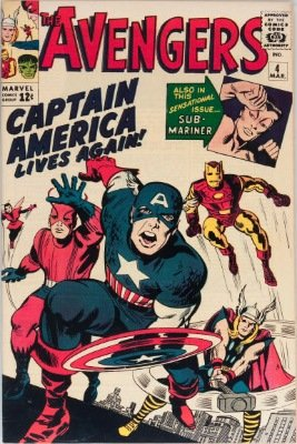 Hot Comics #22: Avengers #4, Captain America Revived. Click to buy a copy