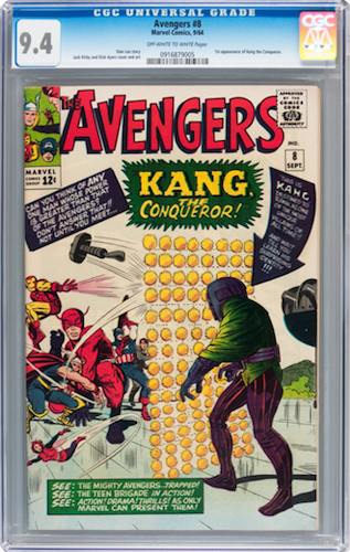 Marvel Villains #4: Kang the Conqueror. Invest in a super-nice CGC 9.4. Click for values