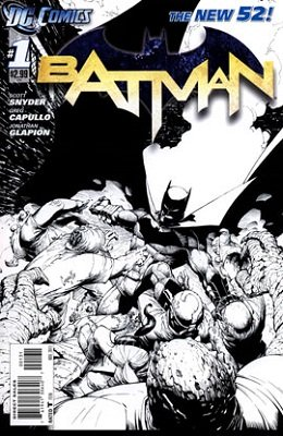Batman #1 New 52 (2011) Sketch Variant. Click for value