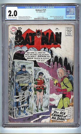 This Batman #121 is graded 2.0 by CGC. It's heavily worn.