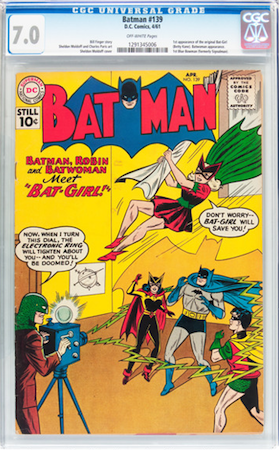 Batman #139 is the first Bat-Girl and a good investment in CGC 7.0. Click to buy