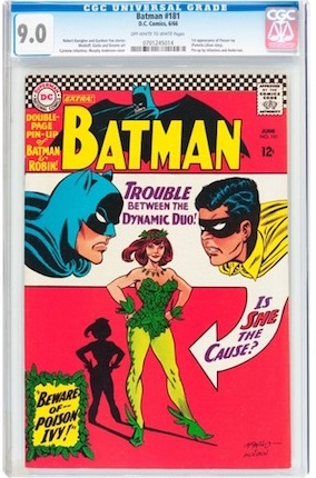 With the average Batman #181 arriving without its centerfold poster and covered in wear and creases, this VF-NM example is a great investment, with future upside potential.