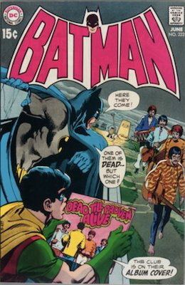 Batman #222, Beatles Cover and Story. Click for values