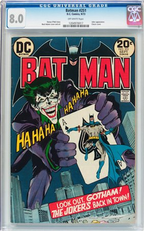 100 Hot Comics #87: Batman 251, Classic Neal Adams Joker Cover. Click to buy a copy