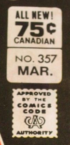 Batman #357 regular Canadian price variant box