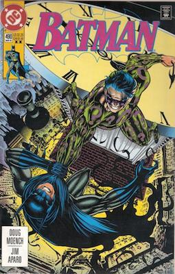 Batman comic #490: Riddler appearance. Click for values