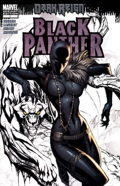 #15: Black Panther Sketch, Campbell (2009). Click for values