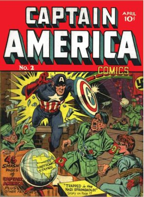 Captain America Comics #2: Hitler cover; 2nd Cap appearance. Click for values