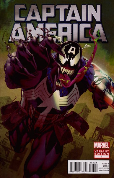 #50: Captain America 7 Perkins Venom Variant (2012). Click for values