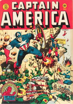 Captain America Comics #33. Click for current values.