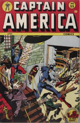 Captain America Comics #55. Click for current values.