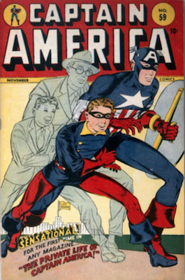 Captain America Comic #59: Origin of Cap Retold. Click for current values.