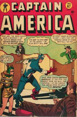 Captain America Comics #67. Click for current values.