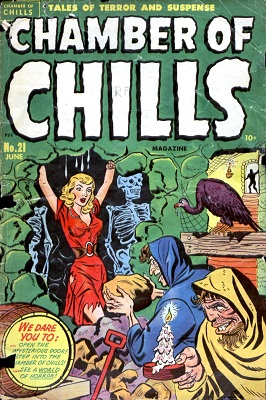 Chamber of Chills #21 (1951): First issue in this classic series of horror comic books. Click for value