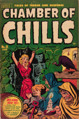 Chamber of Chills #1 was numbered #21, published 1951. Click for current values.