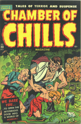 Chamber of Chills #3 was numbered #23, published 1951. Click for current values.