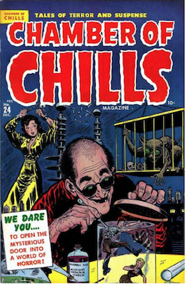 Chamber of Chills #4 was numbered #24, published 1951. Click for current values.