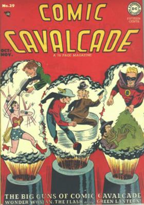 Comic Cavalcade #29: Last superhero issue; second computer in comics story. Click for current values.