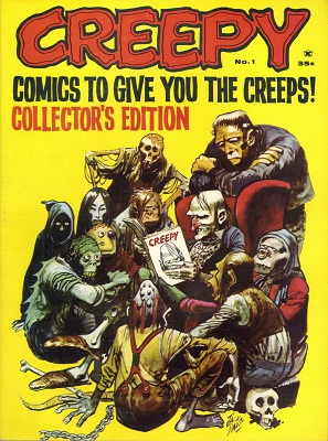 Creepy #1 (1964): First issue of the magazine-sized Horror comic books series. Click for value