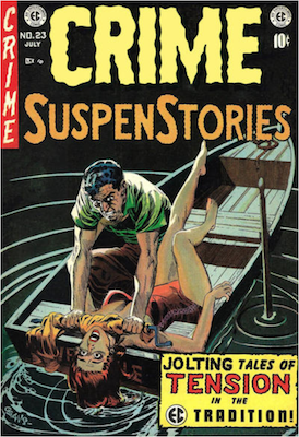 Crime SuspenStories comic book values by EC Comics