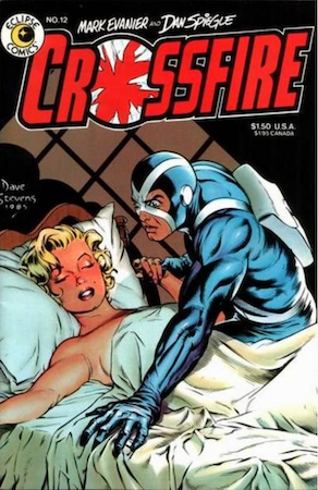 Crossfire Comics #12 by Eclipse Comics: Death of Marilyn Monroe. Click for values