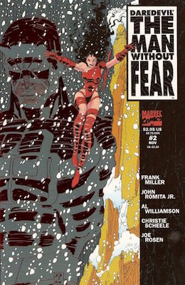 Daredevil: The Man Without Fear #2 - #3 (Marvel, 1993): First Meeting of Elektra and Daredevil in Chronology