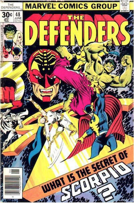 Defenders #48; Moon Knight appearance. Click for values.