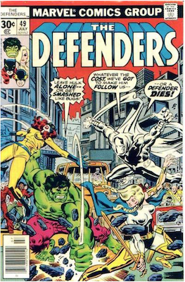 Defenders #49: Moon Knight appearance. Click for values.