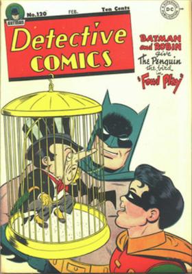 Detective Comics #120: Classic Batman vs Penguin Cover. Click for values