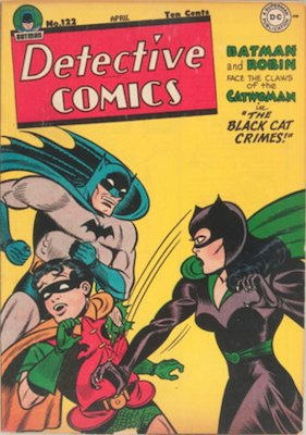 Detective Comics #122: First Catwoman comics cover