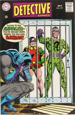 Detective Comics #377: Riddler cover story. Click for values