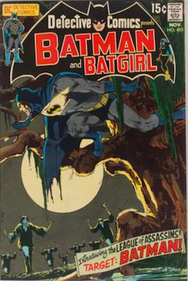 Detective Comics #405, 1st League of Assassins. Click for values
