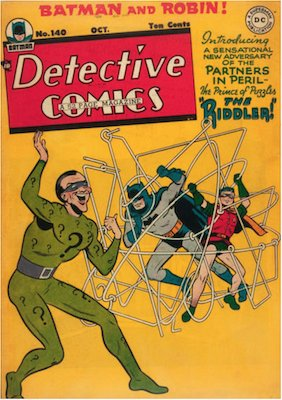 Detective Comics #140: First appearance of Riddler. Click for values