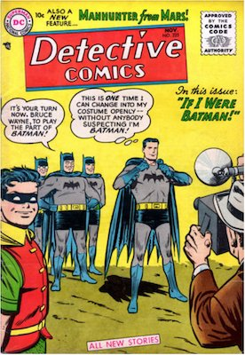 Detective Comics #225: Origin and first appearance of J'onn J'onzz, Martian Manhunter. Click for values