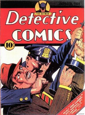 Detective Comics #32: Batman is first costumed hero to use a gun, kills two villains. Click for values