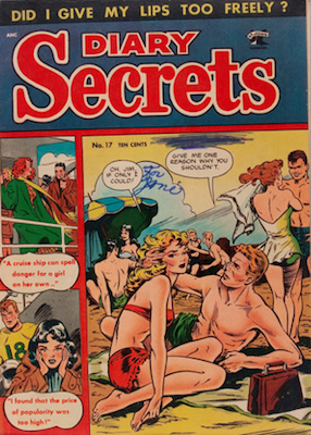 Diary Secrets #17: classic Baker cover. Click for values