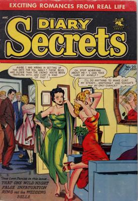 Diary Secrets #22, Matt Baker cover art. Click for values