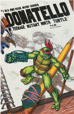 Donatello Teenage Mutant Ninja Turtle #1 (1986), Mirage Studios. Click for values