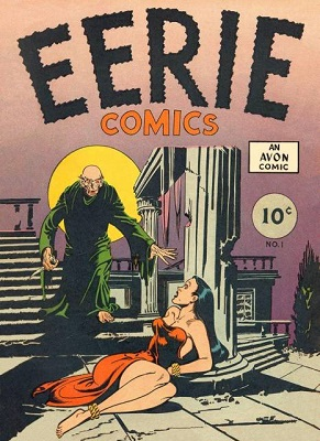 Eerie #1 (1947): Rare Avon Per One-Shot; Publisher revived Horror Comic Books series in 1951. Click for value