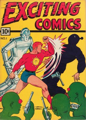 Exciting Comics #1:  Origin and First Appearance of The Mask. Click for current values.