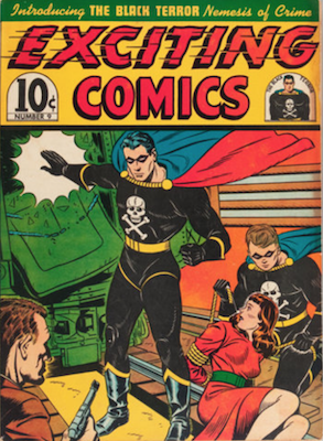 Exciting Comics #9: Origin and First Appearance of the Black Terror. Click for current values.