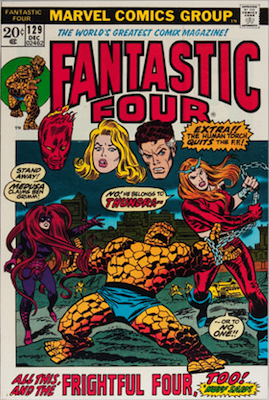 Fantastic Four #129: 1st Appearance of Thundra. Click for values