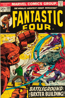 Fantastic Four #130: Sue Richards Leaves the FF. Click for values